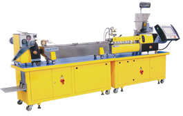 optional gravimetric feeders on twin screww extruders